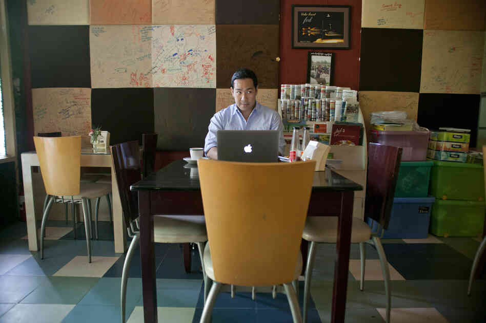 Nay Aung is the founder of Oway, a tech startup in Yangon, Myanmar. He used Taste Cafe as his unofficial office when he started