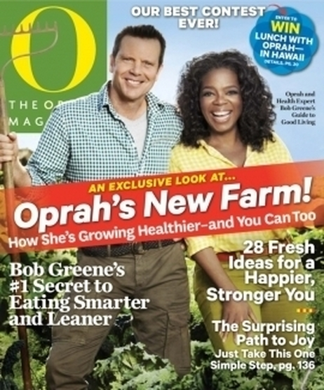 The June issue of The Oprah Magazine includes an article with details on Oprah Winfrey's new farm in Hawaii.