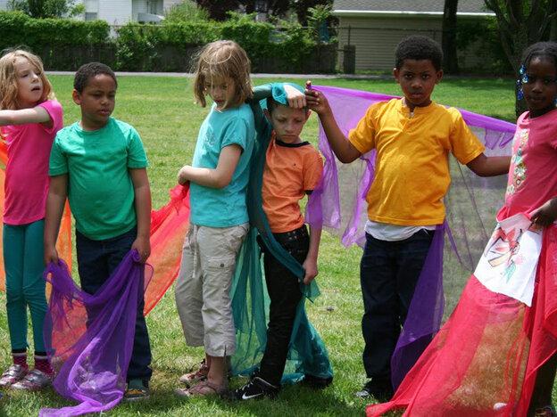 Elementary school students in Maplewood, N.J. prepare to enact their own Rite.