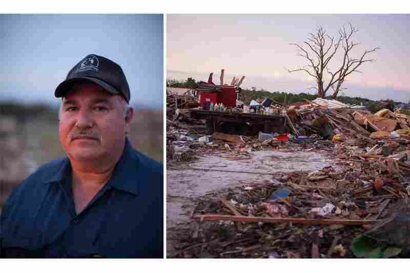 Kenneth Wallace has lived here for 26 years and raised his children in this home, but he doesn't plan to rebuild. He is devastated by the loss, he says, and is tired of the anxiety he feels each time a tornado gets close to his home.