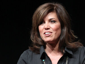 Sideline reporter Michele Tafoya speaks on a panel at the 2011 Summer TCA Tour in Beverly Hills, Calif.