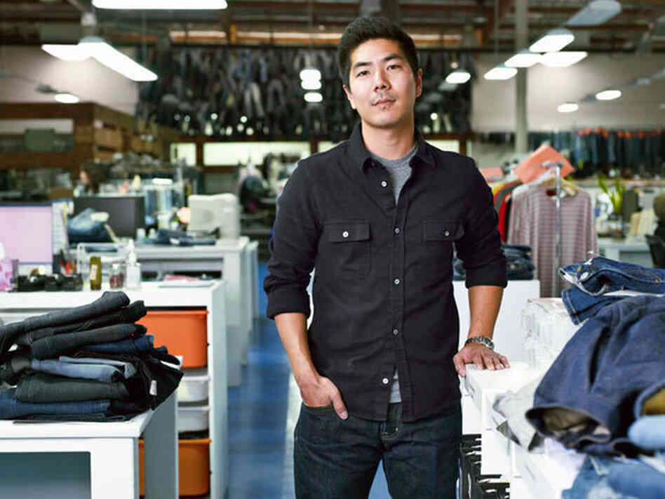 Samuel Ku, who runs AG Jeans alongside his father, sa