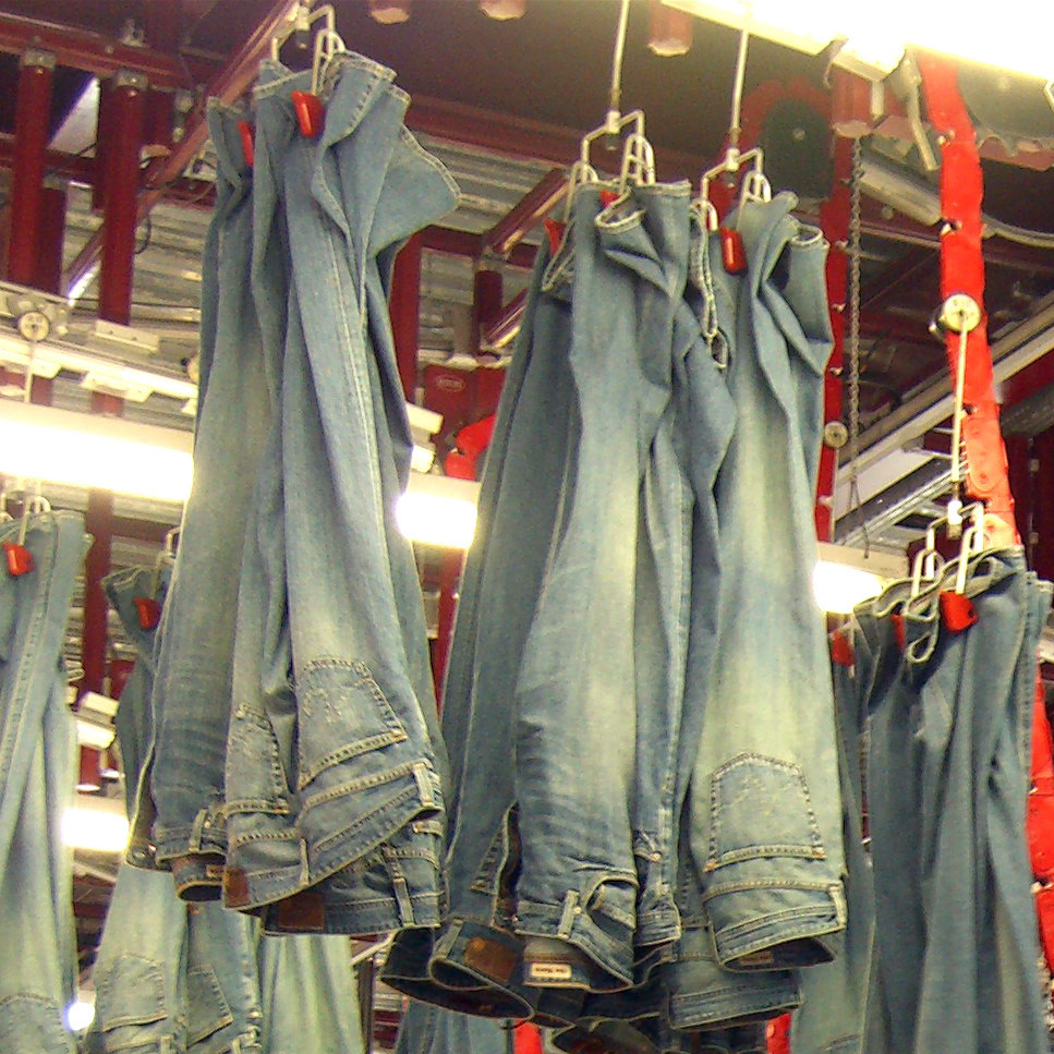 Los Angeles has attracted much of the world's designer bluejeans business. The industry employs thousands of workers in the area.