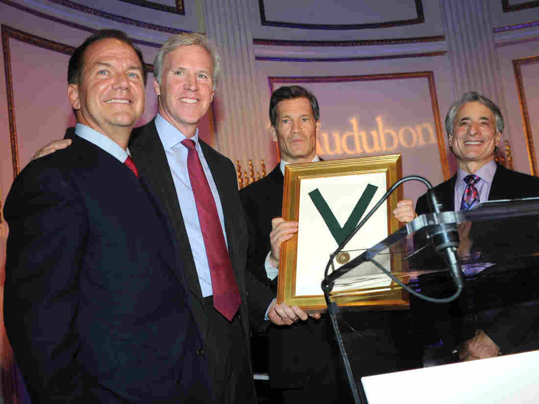 Paul Tudor Jones (left) at an National Audubon Society function in January.