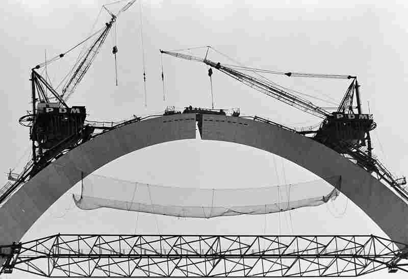 Image result for Gateway Arch completed 1965 images