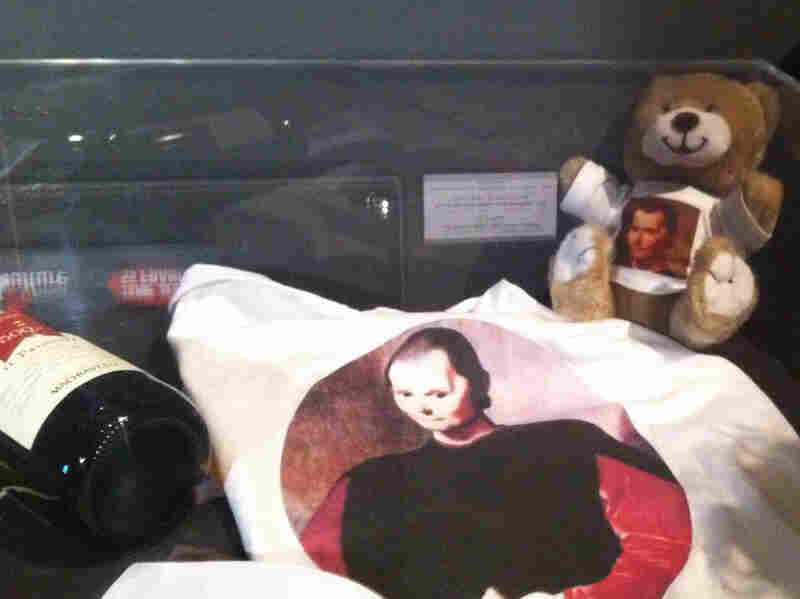 An exhibit in Rome marking the 500th anniversary of The Prince includes a display of T-shirts and teddy bears emblazoned with Machiavelli's face.
