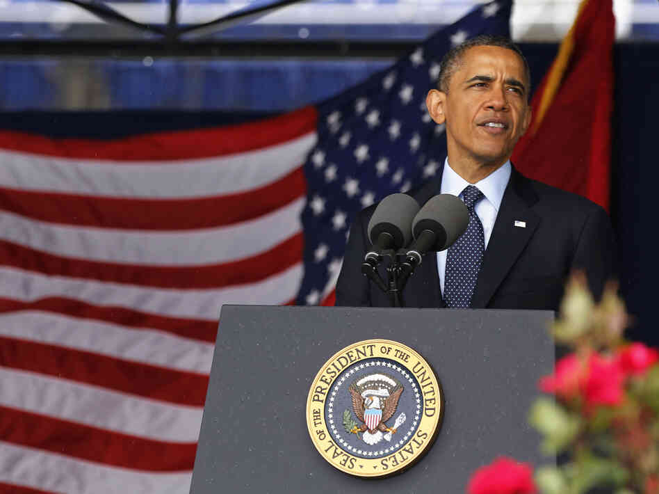 President Obama delivering the commencement address Friday at the U.S. Naval Academy in Annapolis, Md.