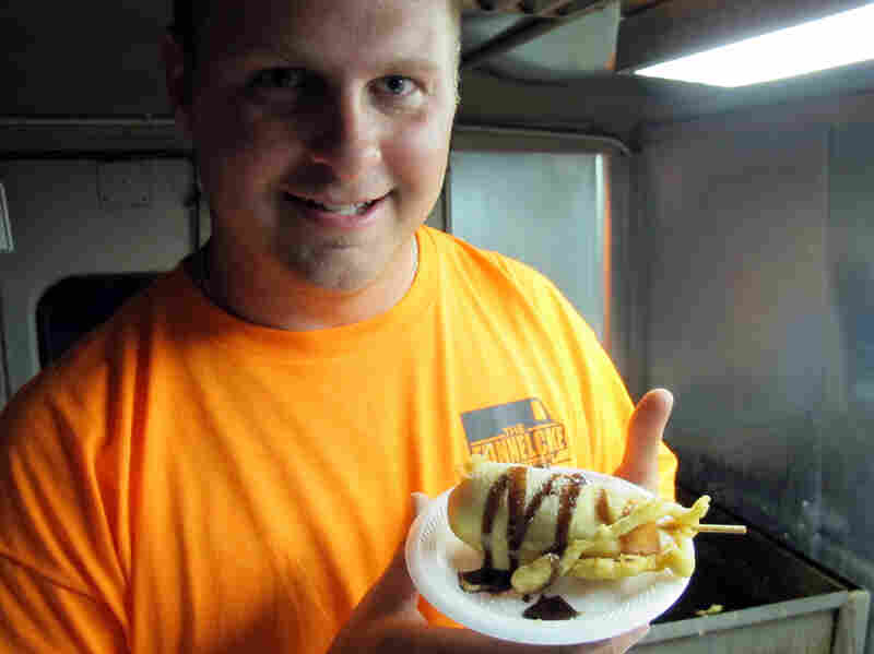 Hostess went bankrupt last year, but you can still buy a Twinkie in Kansas City if you just know where to look. Food truck owner Michael Bradbury bought 10,000 Twinkies when Hostess went under and sells them deep fried and drizzled with chocolate.