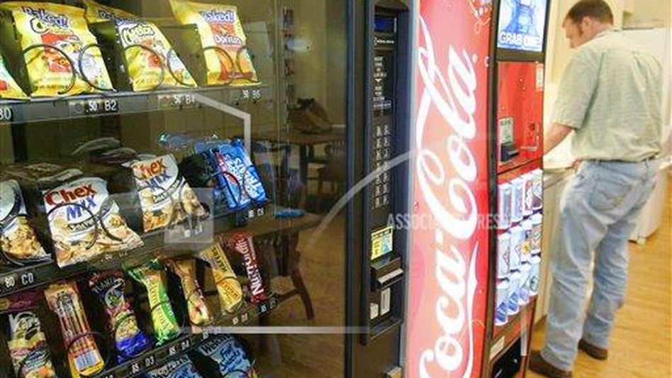 Vending machines at the University of Arkansas in Little Rock, Ark., were stocked with more healthful snacks in 2006.