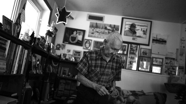 Howard Lincoln, 82, lives in the village of White Mountain in Alaska. Lincoln served with the U.
