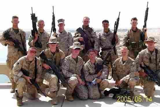 Lance Cpl. Travis Williams' squad, front row, from left: Michael Cifuentes, Christopher Dyer, Justin Hoffman, Aaron Reed, Edward August Shroeder, Eric Bernholtz. Back row, from left: Grant Fraser, Nicholas Bloem, Timothy Bell,Brett Wightman, Travis Williams, David Kreuter.