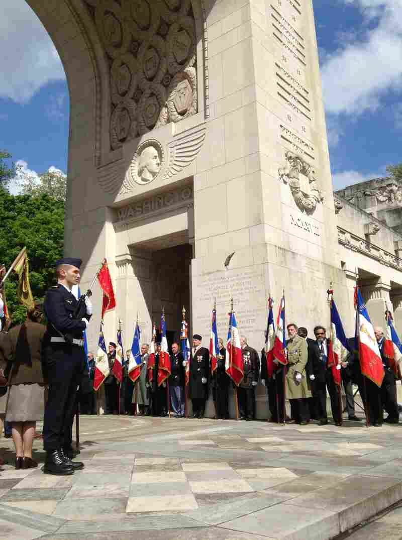 A memorial outside Paris honors members of the Lafayette Squadron, which was started by a group of young American men in 1914 who wanted to fight for France when World War I broke out. The U.S. had not yet entered the war.