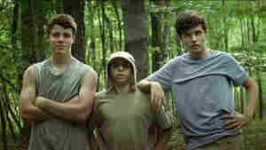 The Kings Of Summer stars (from left) Gabriel Basso as Patrick, Moises Arias as Biaggio and Nick Robinson as Joe. The three teenagers escape from their constrictive parents to build a house of their own in the woods.