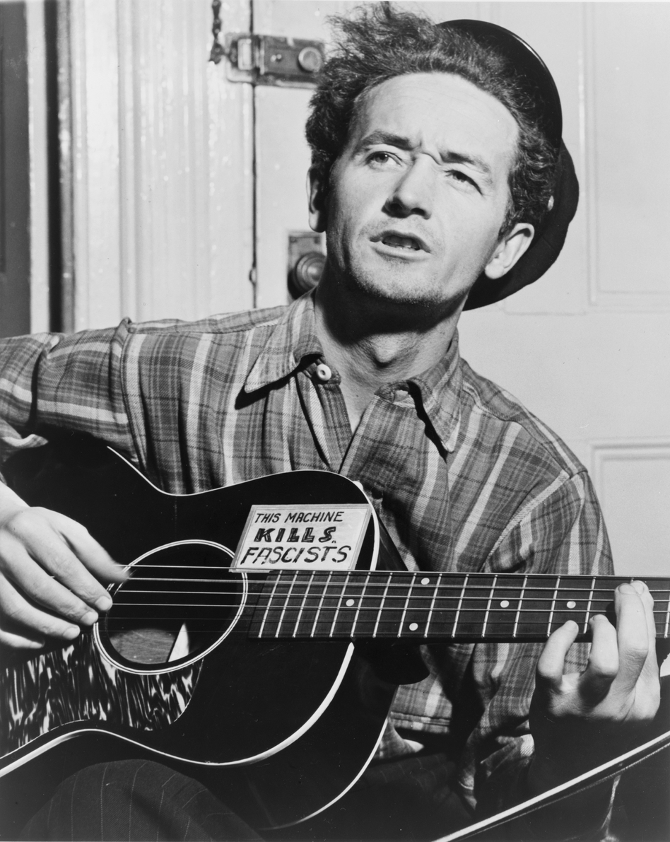 Woody Guthrie in New York City, circa 1943. (Courtesy of the Woody Guthrie Archives)
