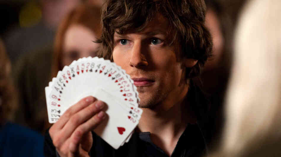 Jesse Eisenberg plays J. Daniel Atlas, part of a team of thieving illusionists, in Now You See Me.