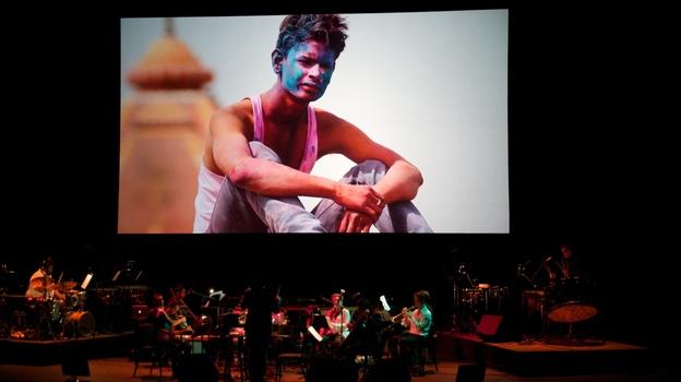 Filmmaker Prashant Bhargava and jazz musician Vijay Iyer's project Radhe Radhe: a visually and sonically dazzling collaboration. (courtesy of Carolina Performing Arts)