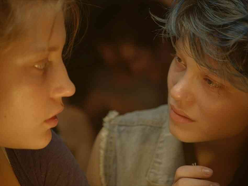 French film Blue Is the Warmest Colour, winner of the Palme d'Or at the 2013 Cannes Film Festival, tells the story of a teenager named Adele (Adele Exarchopoulos) who falls in love with a blue-haired art student named Emma (Lea Seydoux).
