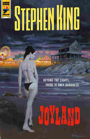 King's publisher Hard Case Crime features splashy covers that harken back to the era of old pulp fiction paperbacks. Above is one of the two covers designed for Joyland.