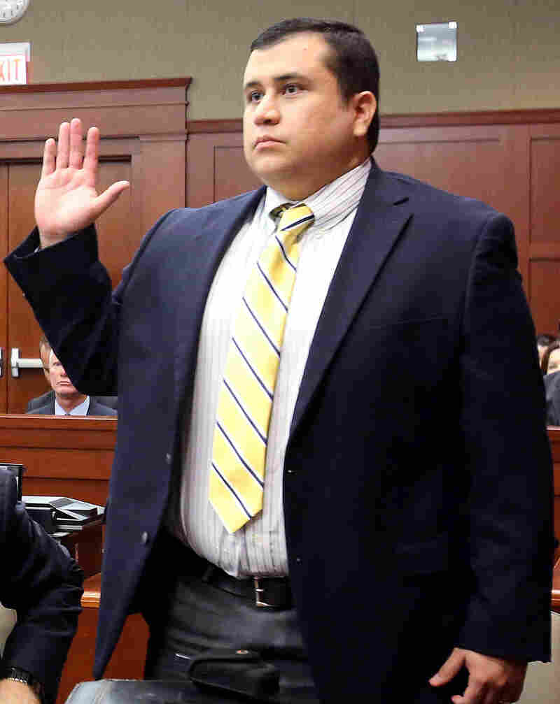 George Zimmerman, defendant in the killing of Trayvon Martin, at an April 30 court hearing in Sanford, Fla.