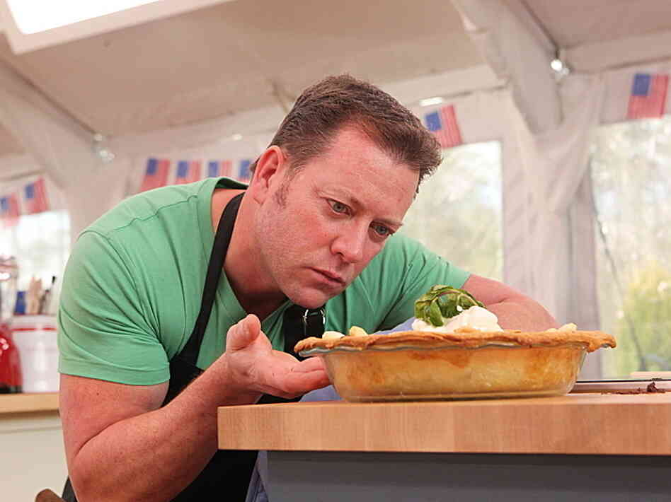 Brian Emmett competes as one of 10 amateur bakers vying for $250,000 and a Gallery Books cookbook contract on CBS's The American Baking Competition, which premieres Wednesday night.