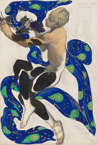 Léon Bakst's 1912 costume design for The Afternoon of a Faun.