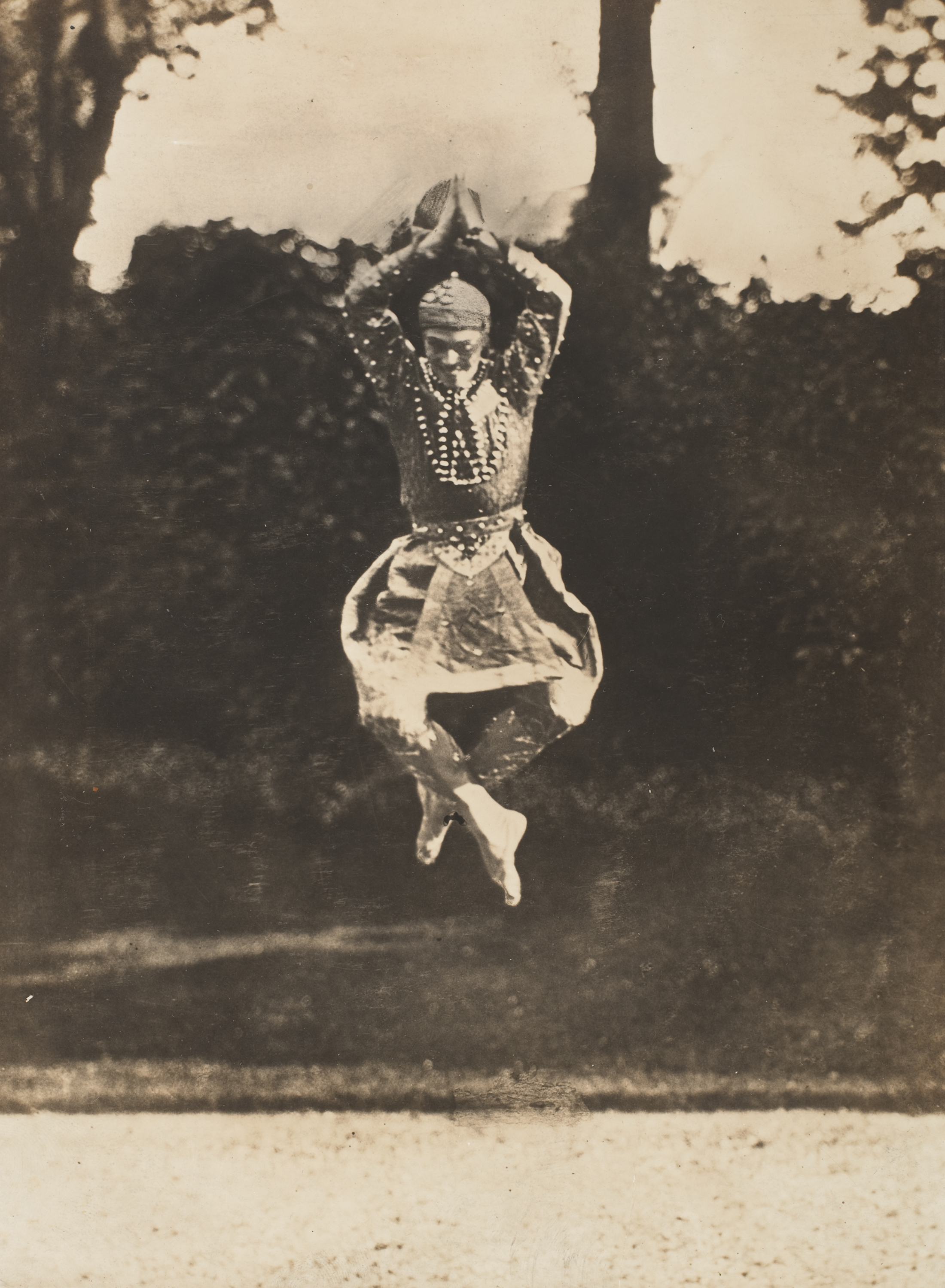 "This 1910 gelatin silver print by Eugène Druet shows Nijinsky in Siamese Dance. The story goes that when asked how he jumped so well, Nijinsky answered, ""It's simple. You just jump up there and wait a little while."""