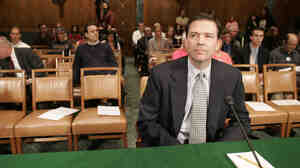 Former Deputy Attorney General James B. Comey waits to testify before the Senate Judiciary Committee in Washington on May 15, 2007. NPR has learned that Comey is in line to become Pr