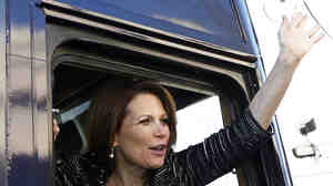 She's saying goodbye, for now at least: Rep. Michele Bachmann, R-Minn., has announced she won't seek re-election in 2014. (File photo from Jan. 4, 2012, when she left the Republican presidential race.)