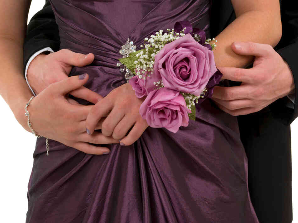 A couple with a corsage