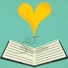 Illustration: A heart writing a book