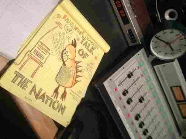 Lynda Barry's on-air doodle.