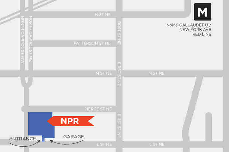The NPR HQ is located on North Capitol St. NE, between L and Pierce Streets in Washington, D.C.
