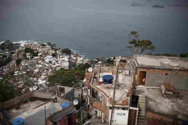 Hostel Brisa do Arvrao, a boutique eco-friendly hotel with expansive ocean views, is under construction at the top of Vidigal.