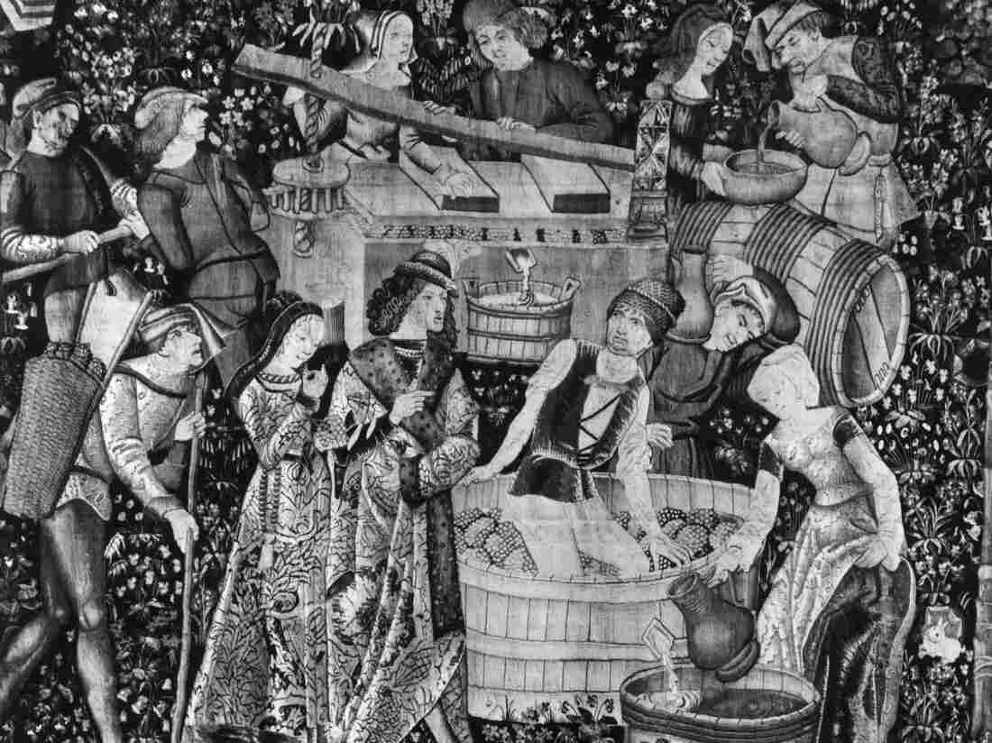 This French tapestry depicts noblemen and women treading and pressing grapes to make wine circa 1500. By then, the French had already been making wine for at least 2,000 years.