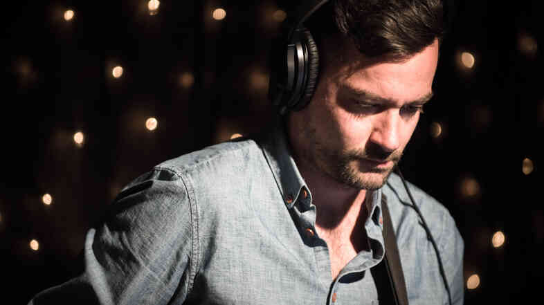 Bonobo's Simon Green during a KEXP studio session.
