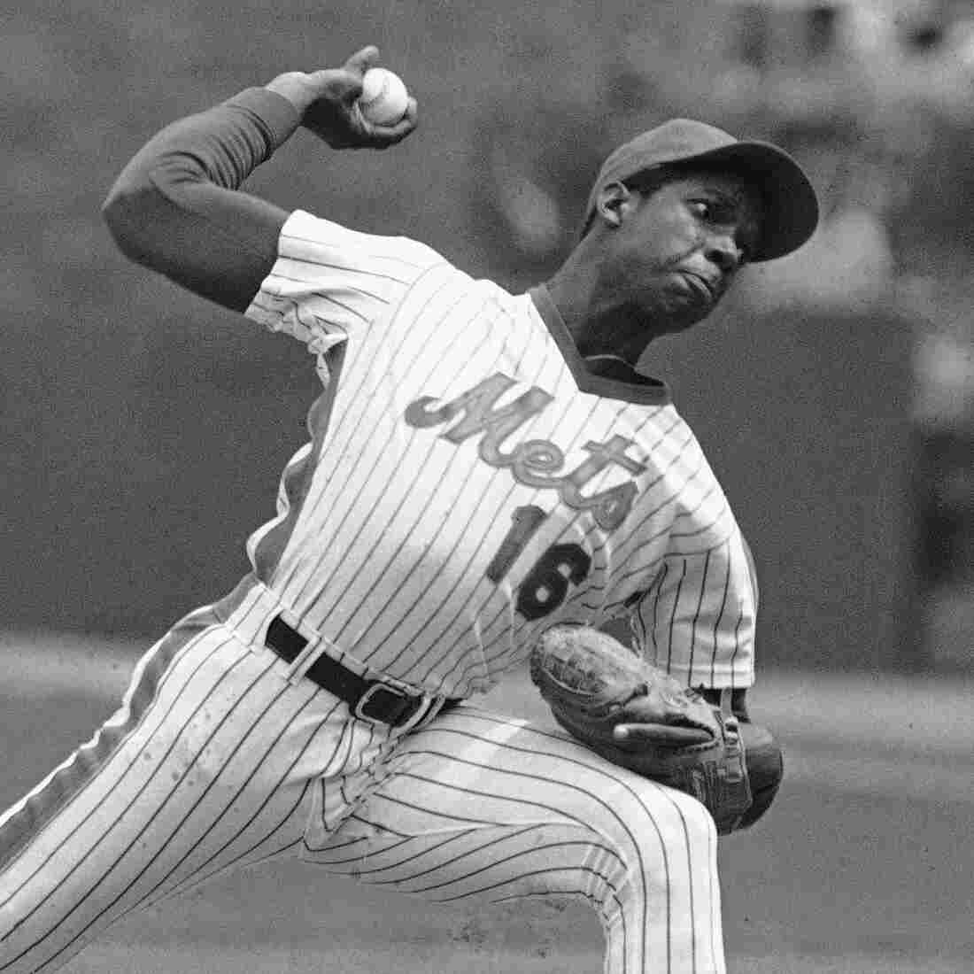 Mets phenom Dwight Gooden  pitches at New York's Shea Stadium on May 6, 1984.