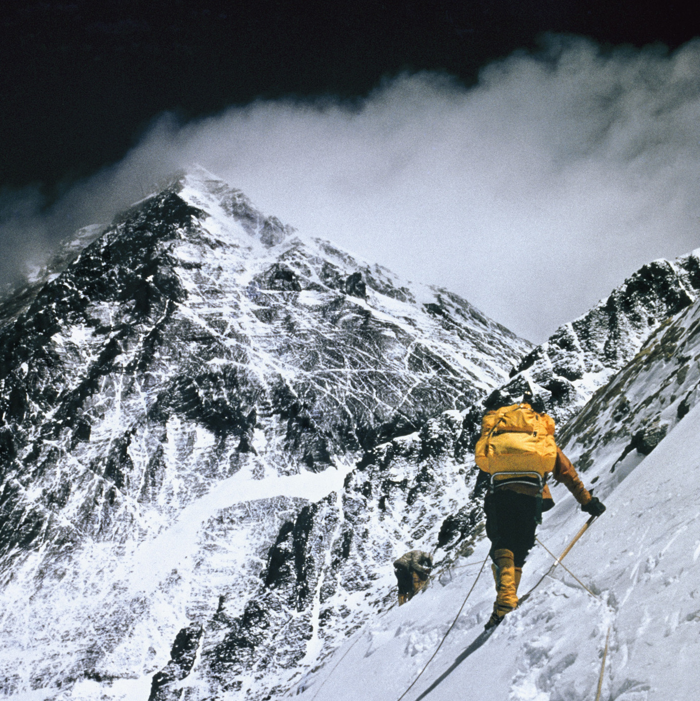 At 25,000 feet, this 1963 photo shows the push towards the summit of Everest.