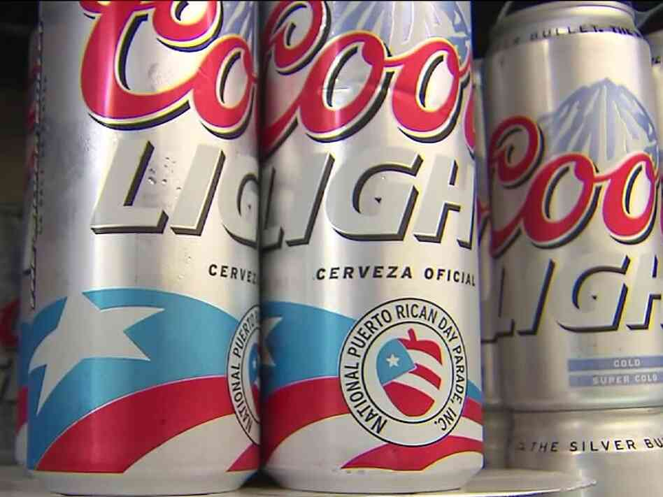 The Coors Light can created to celebrate this year's National Puerto Rican Day parade sparked controversy over its logo.