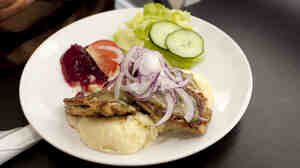 A typical Swedish meal of fried herring and lingonberries includes some of the local ingredients of the healthy Nordic diet prescribed