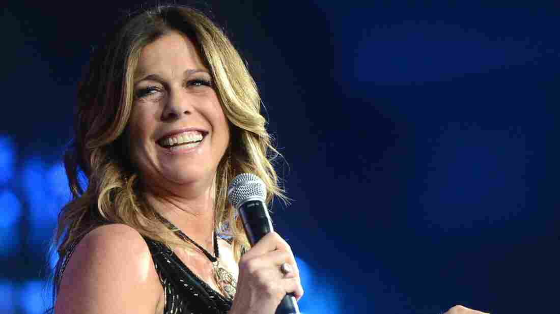 Rita Wilson, seen here performing in March, is the editor-at-large of the Huff/Post50 section of The Huffington Post.