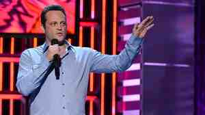 Vince Vaughn, seen here at a comedy show earlier this month, is the star of the upcoming film Delivery Man.