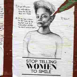 New York artist Tatayana Fazlalizadeh uses posters to combat unwanted cat calls and attention from men in her neighborhood.