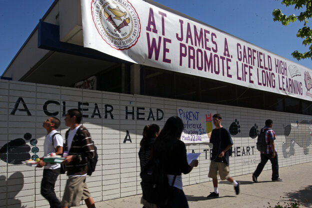"""When Garfield High School in Los Angeles stopped suspending students for """"willful defiance"""" several years ago. Tuesday, the Los Angeles Unified School District board voted to follow suit in all Los Angeles schools."""
