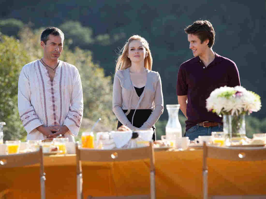 Charles Fathy, Kelly Curran and Devon Werkheiser star in Deadly Spa as Caftan Charlie, Blonde Henchlady, and Doomed F. Simpleton.