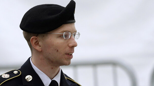 The trial of Army Pfc. Bradley Manning, seen here last month, began M