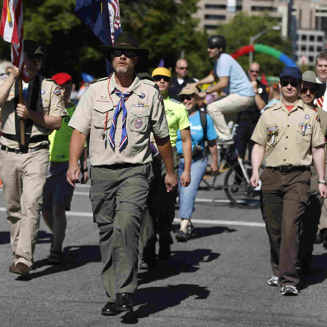 Boy Scouts March In Uniform At Utah Gay Pride Parade