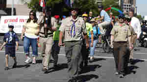 Members of the Boys Scouts of America and some of their families marched Sunday in Salt Lake City's Utah Pride parade.