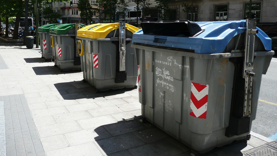 Engineers are preparing to equip all dumpsters in Santander with sensors that gauge whether the container is full or empty. The sensors then transmit data to garbage collectors, alerting them to which containers need to be emptied. (Lauren Frayer for NPR)