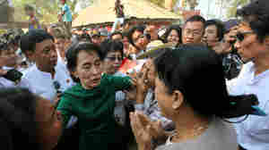 Myanmar's Aung San Suu Kyi Walks Fine Line In Her New Role