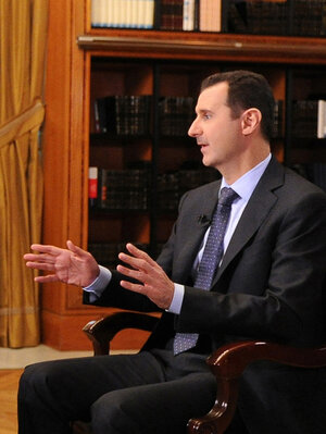 Syrian President Bashar Assad reiterated his intention to remain in his current position during a television interview last week. The Syrian president and his army have been looking stronger in recent weeks, many analysts say.